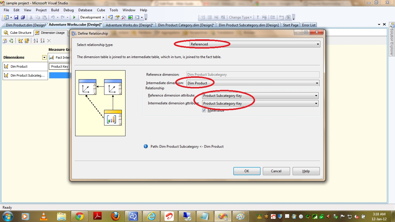 ssas referenced relationship materialize