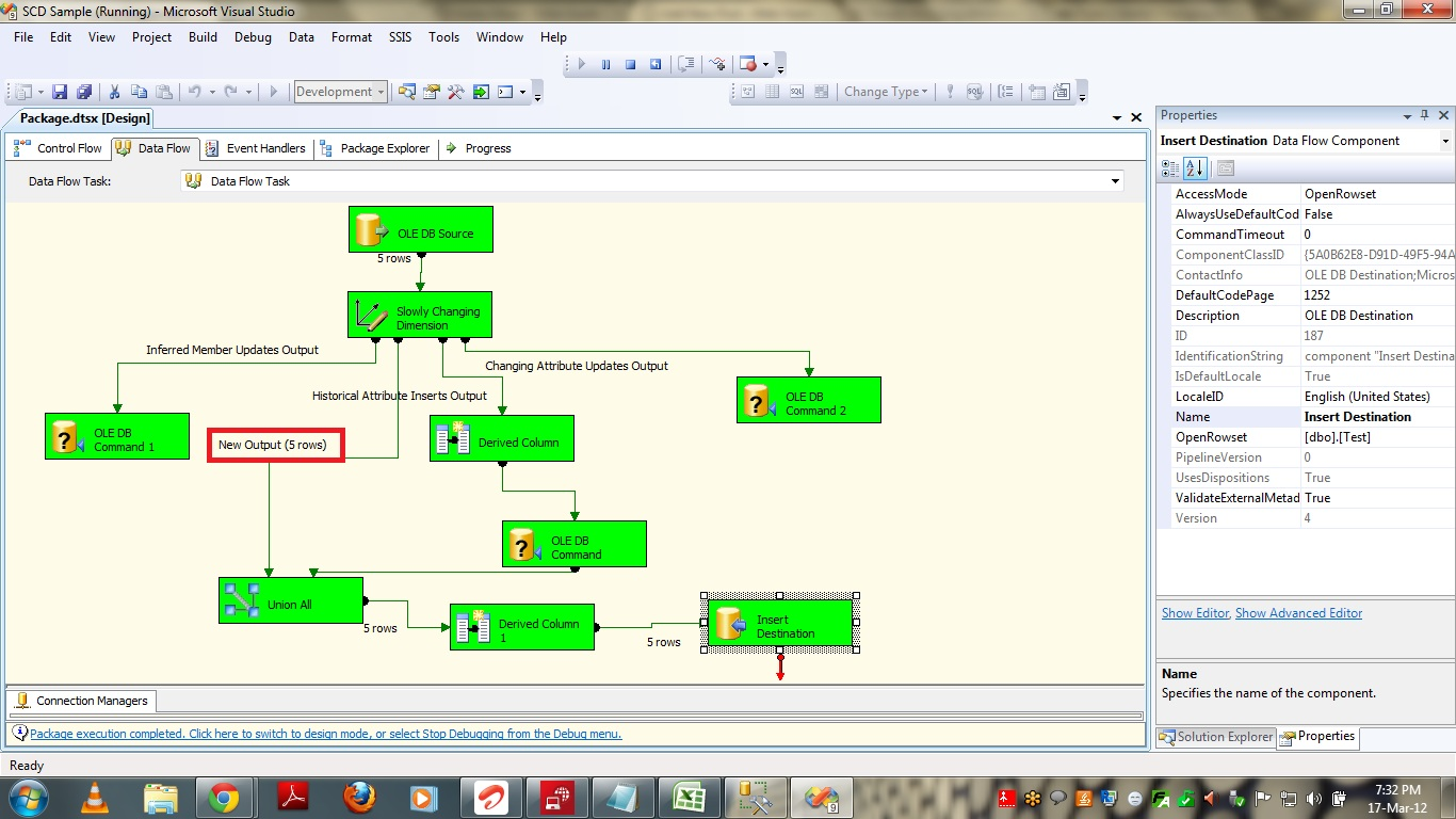 how to define  implement type 2 scd in ssis using slowly