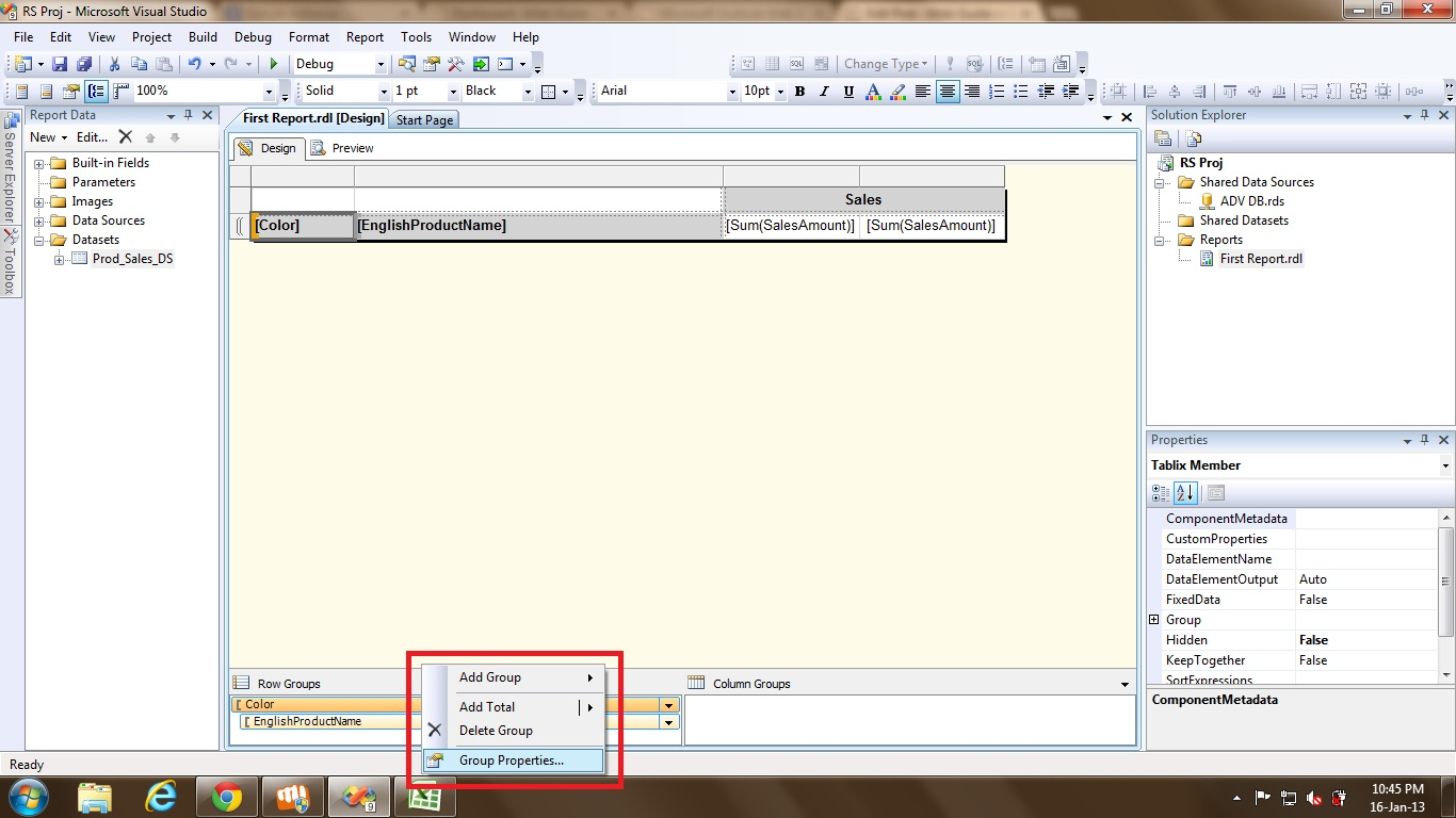 Exporting a SSRS report to multiple Excel tabs | Msbi Guide