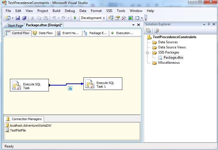 Constraint OR Expression option in SSIS Precedence 2008 R2 | Msbi Guide