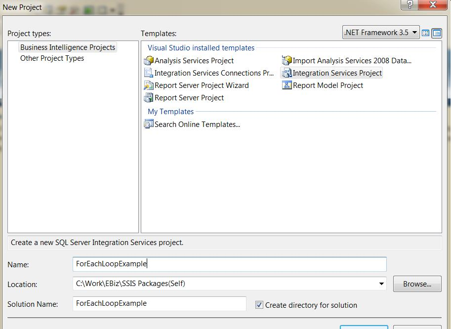 Looping through Files using ForEach Loop container in SSIS