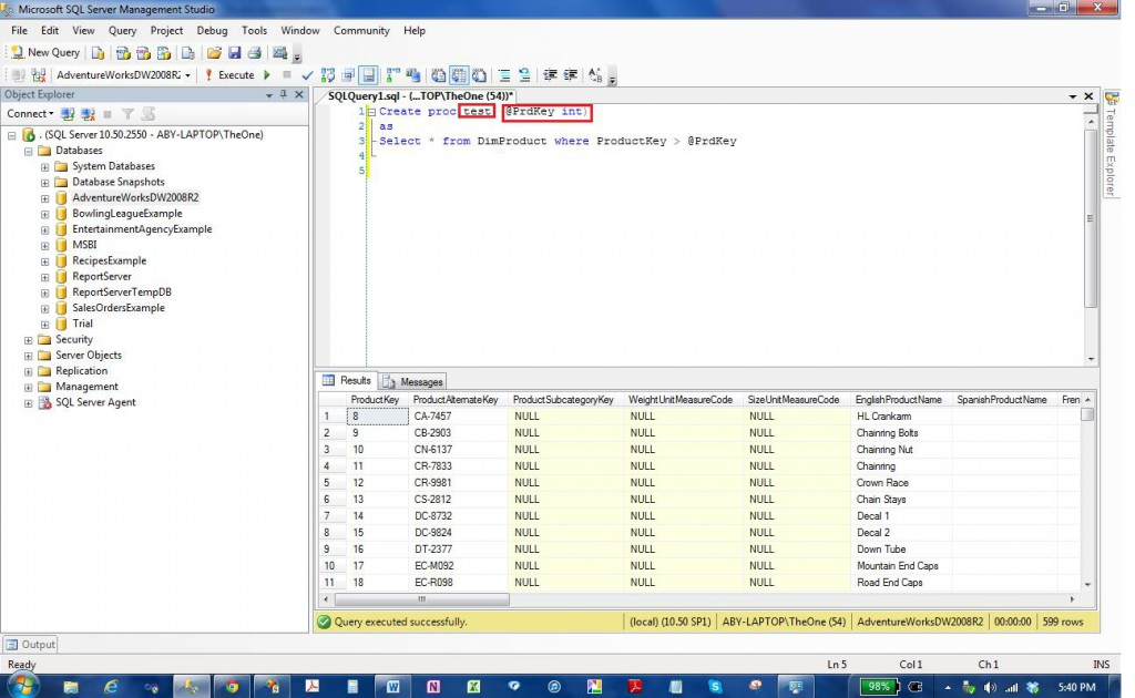 input  output and return values in ssis execute sql task