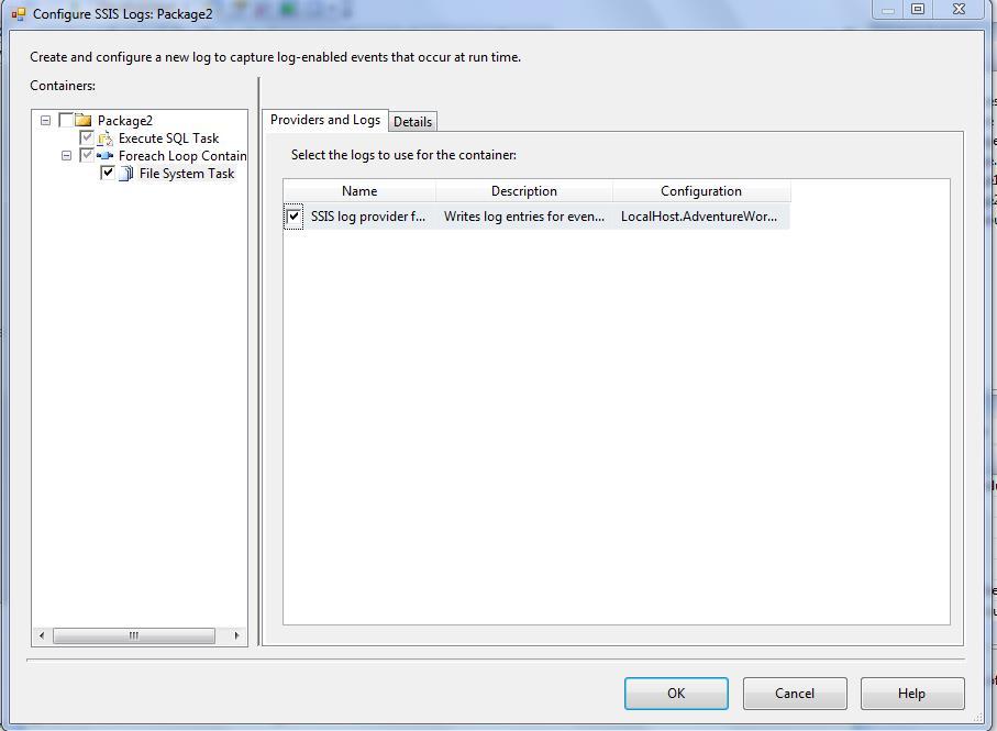 Logging in SSIS (SQL Server Log Provider) | Msbi Guide