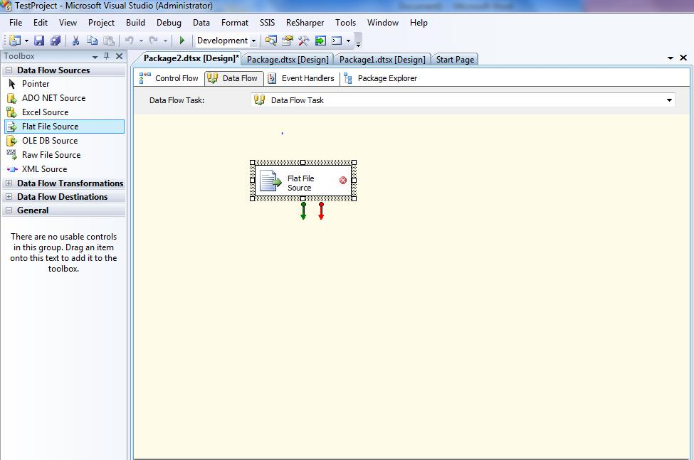 flat file source in ssis 2008r2 with example